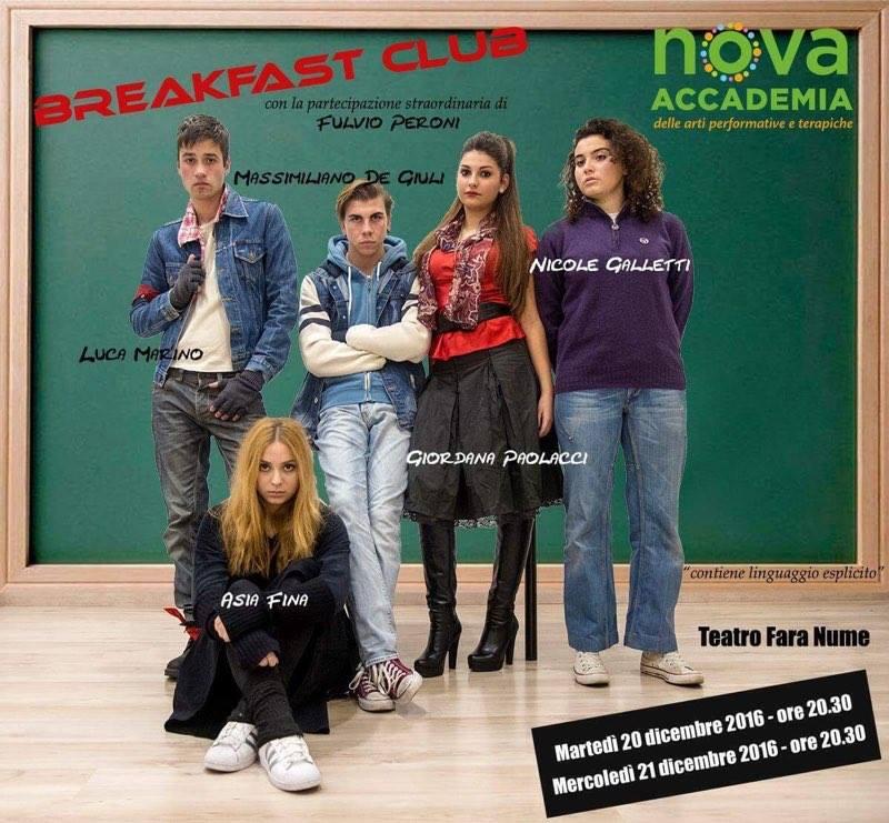 """Comunicato Stampa: """"Breakfast Club"""" al Teatro FaraNume"""