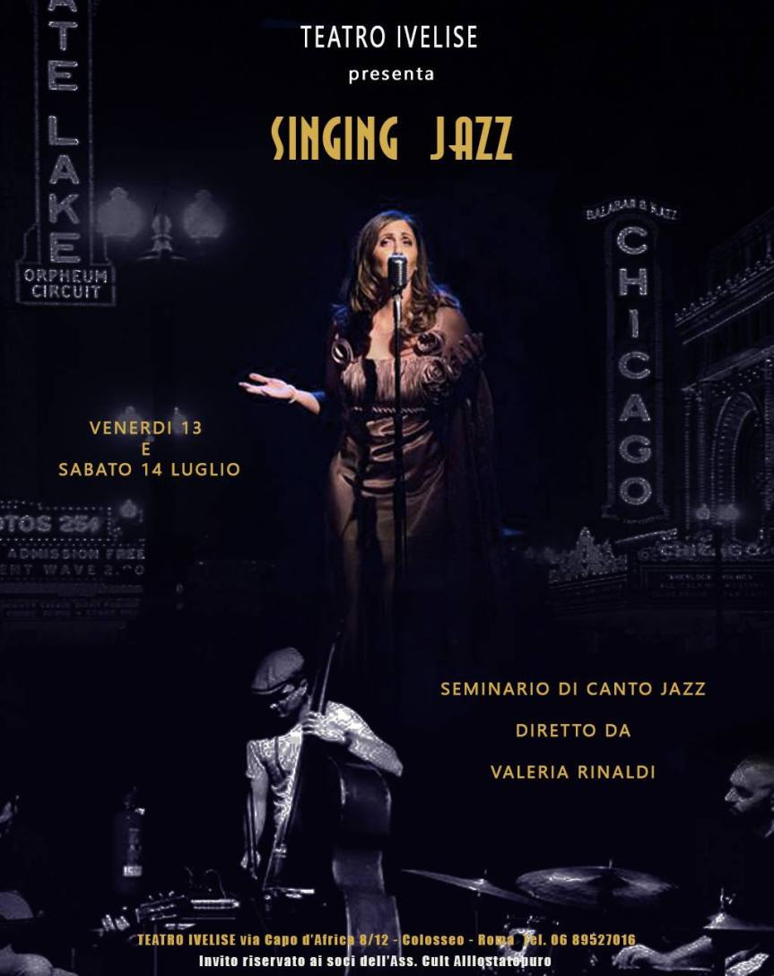 """SINGING JAZZ"": il primo workshop di canto jazz al teatro Ivelise"
