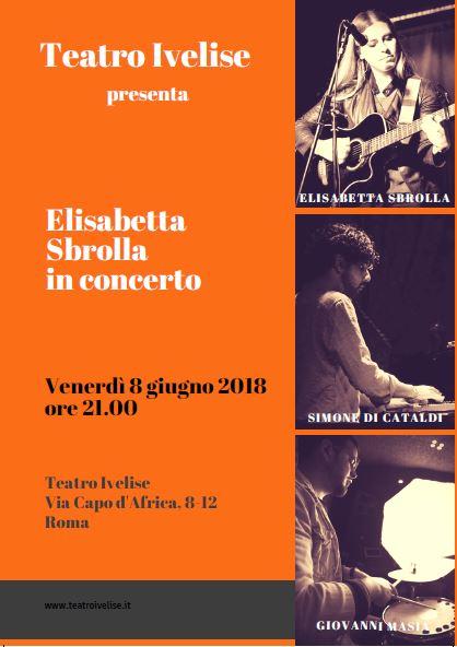 Elisabetta Sbrolla in concerto, venerdì 8 giugno al teatroIvelise