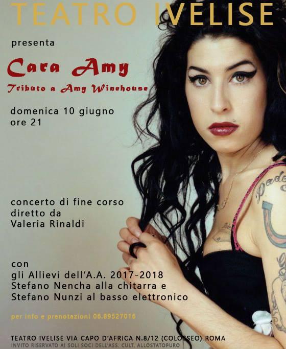 Cara Amy – Tributo ad Amy Winehouse: domenica 10 giugno al teatroIvelise