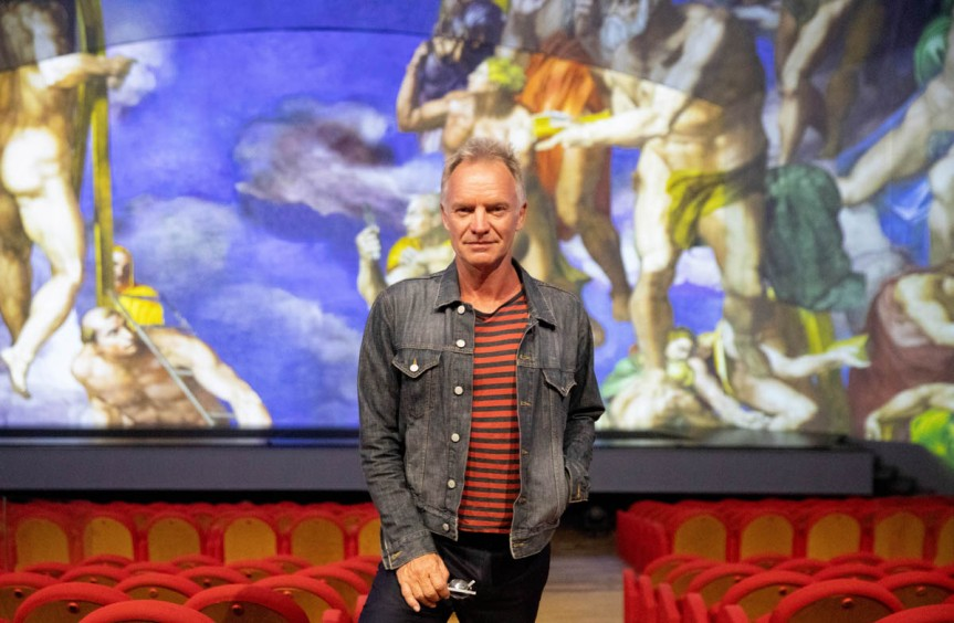 Sting in platea per Giudizio Universale. Michelangelo and the Secrets of the Sistine Chapel