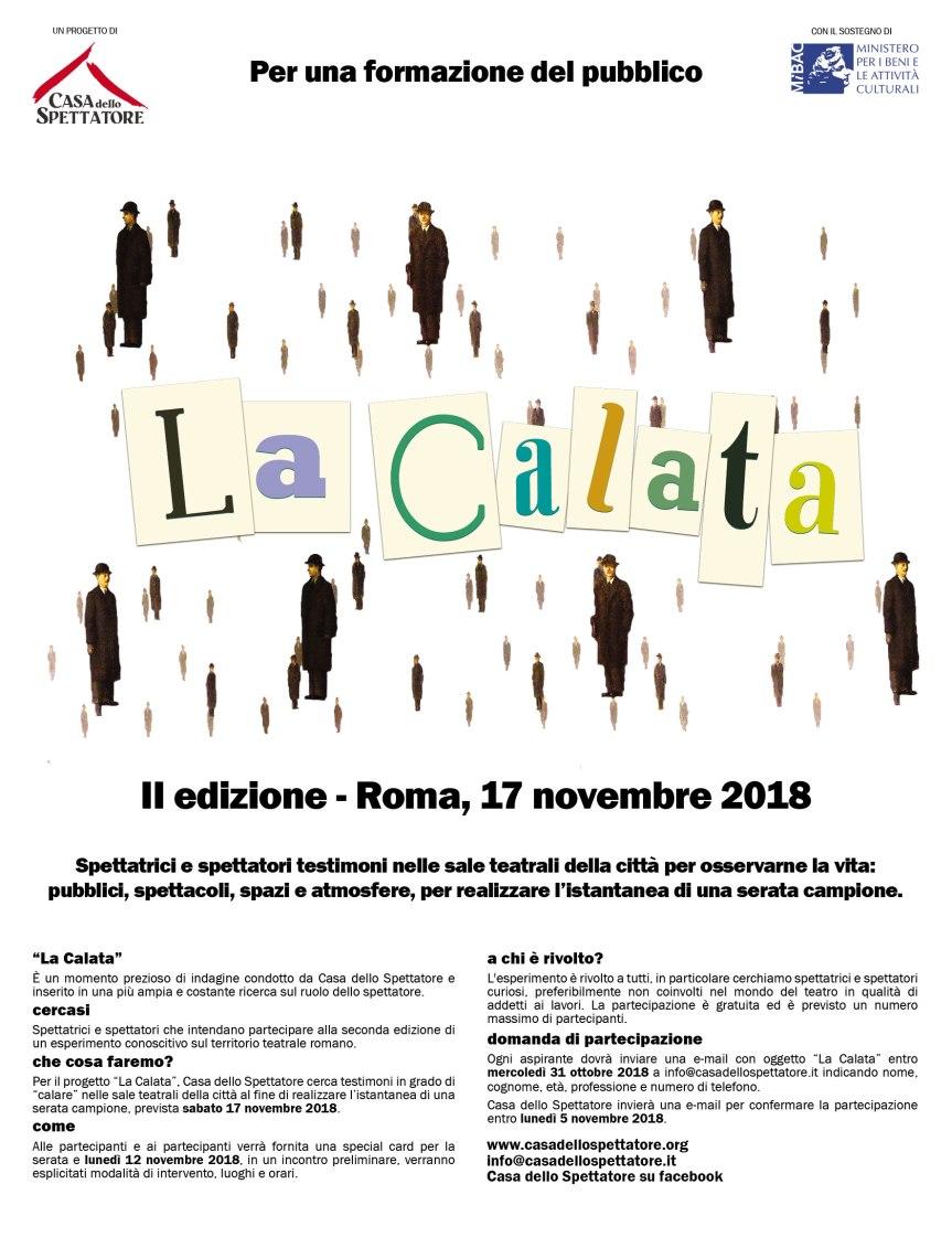 """Fino al 31 ottobre aperte le iscrizioni per la II edizione de """"La Calata"""" a cura della Casa delloSpettatore"""