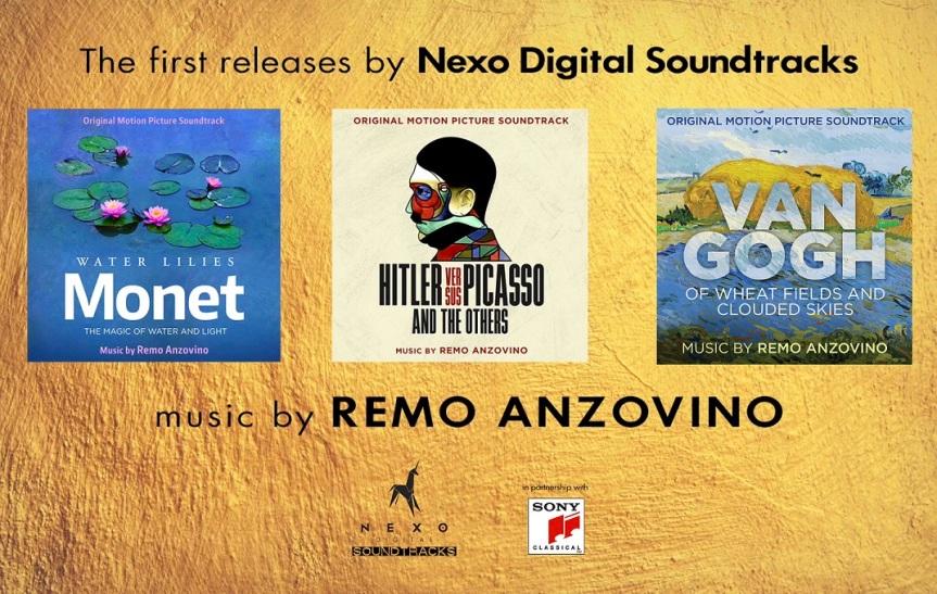 TRE COLONNE SONORE di REMO ANZOVINO per i FILM D'ARTE su Monet, Picasso e VanGogh