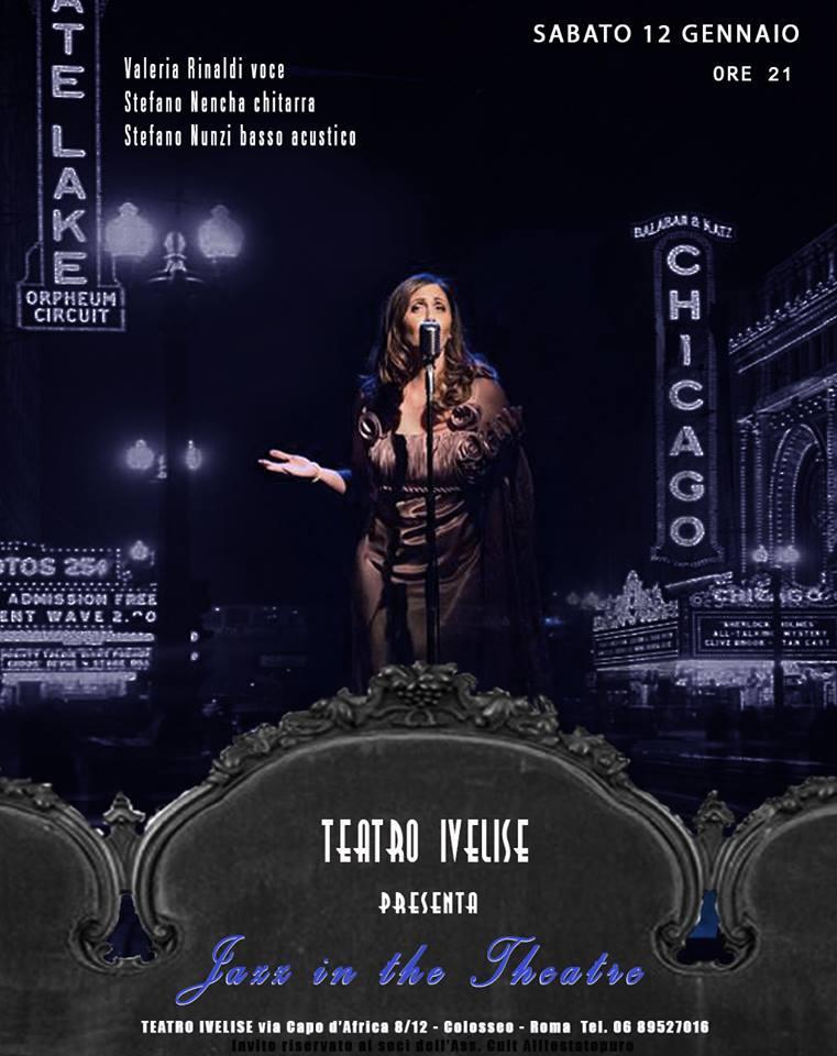 Teatro Ivelise | Nuovo appuntamento con JAZZ IN THE THEATRE il 12gennaio