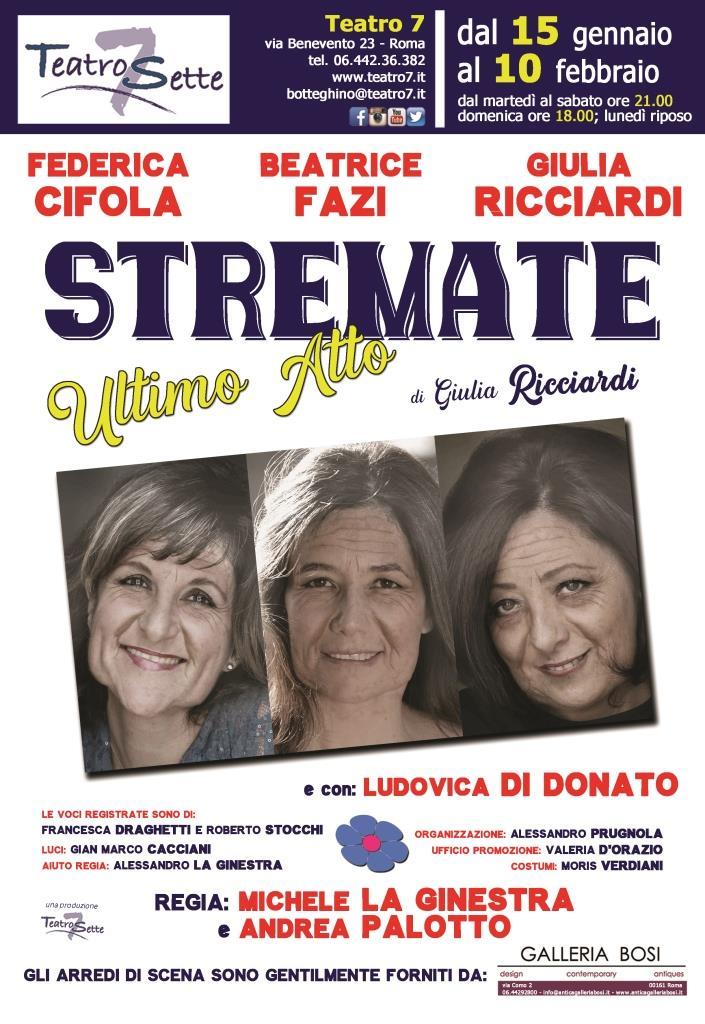 Teatro 7 | Dal 15 gennaio STREMATE ULTIMOATTO