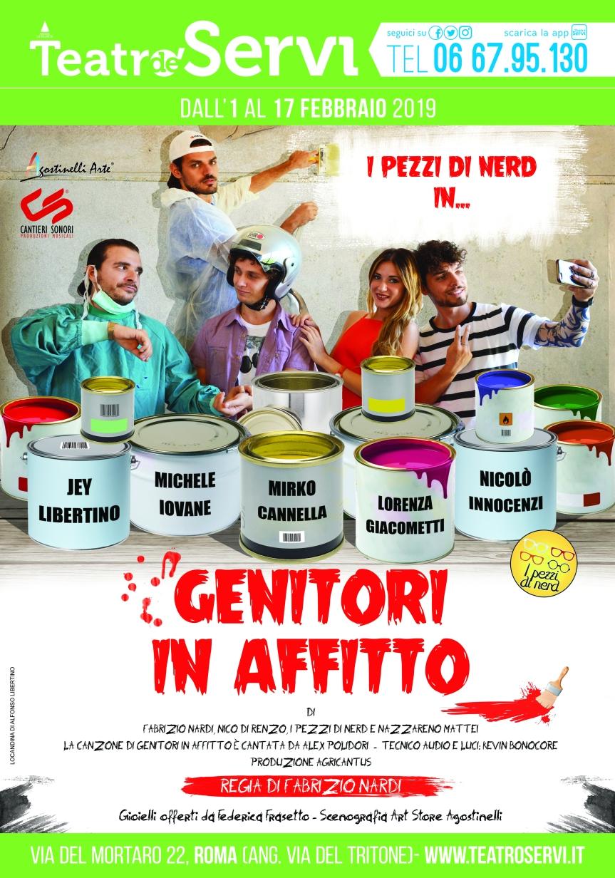 Teatro de'Servi | GENITORI IN AFFITTO dal 1febbraio