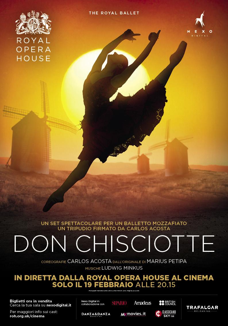 Il 19 febbraio al cinema il DON CHISCIOTTE del RoyalBallet