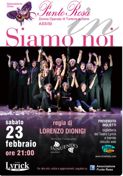 Teatro Lyrick | Le donne dell'associazione Punto Rosa di Assisi in scena con SIAMO NOI il 23febbraio