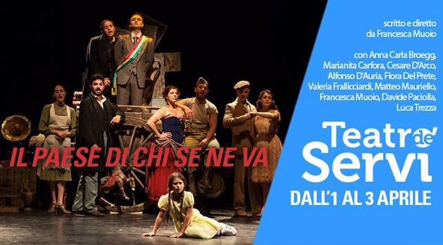 Teatro de'Servi | IL PAESE DI CHI SE NE VA dal 1 al 3aprile