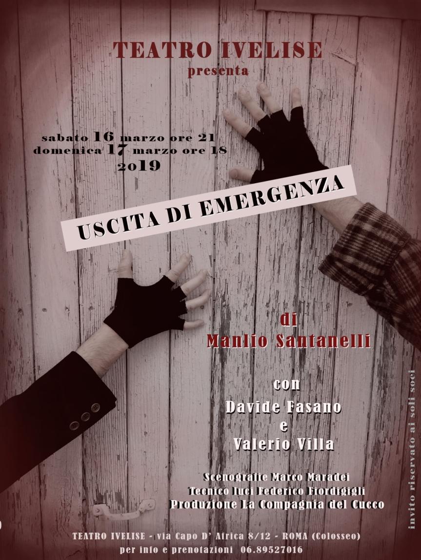 Teatro Ivelise |USCITA DI EMERGENZA di Manlio Santanelli dal 16marzo
