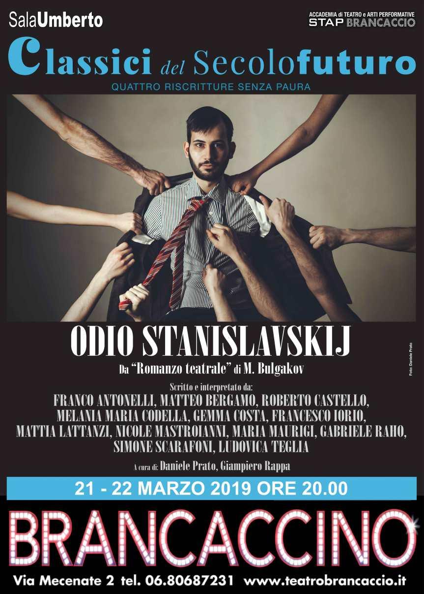Brancaccino | Dal 21 marzo ODIO STANISLAVSKIJ con gli Allievi Attori dell'Accademia StapBrancaccio