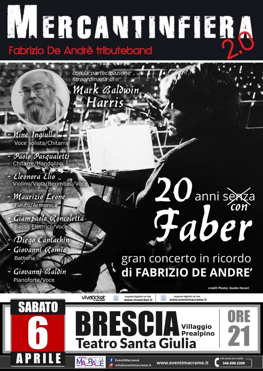 Teatro Santa Giulia | Il 6 aprile a Brescia il concerto 20 ANNI SENZAGABER