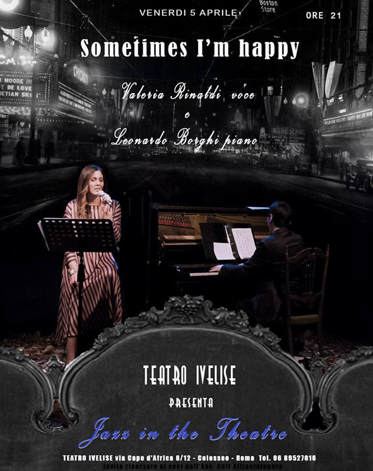 Teatro Ivelise | Il 5 aprile nuovo appuntamento con JAZZ IN THETHEATRE