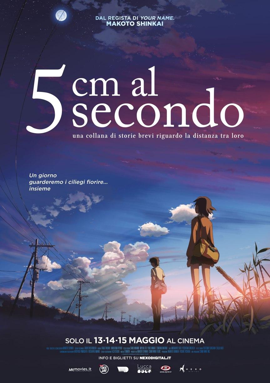 5 CM AL SECONDO di Makoto Shinkai al cinema dal 13maggio
