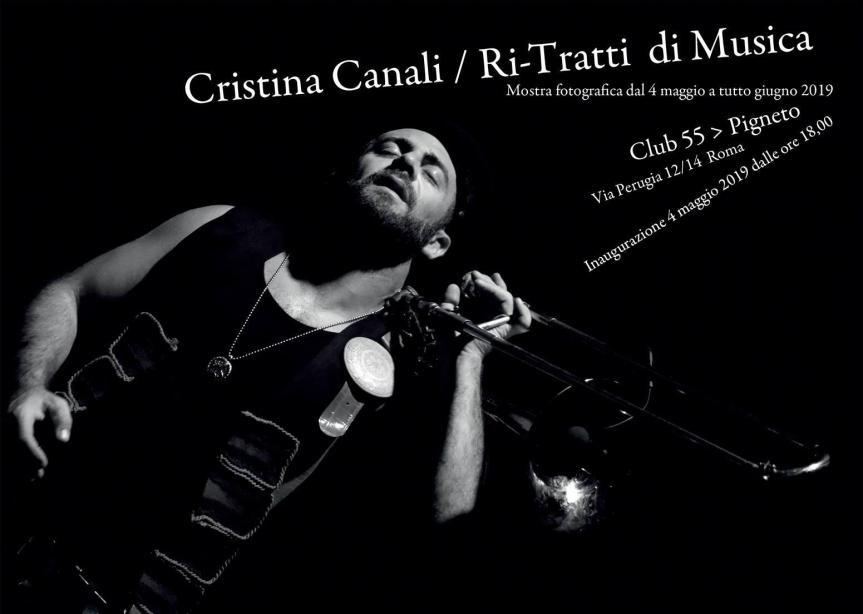Dal 4 maggio RI-TRATTI DI MUSICA: mostra fotografica di Cristina Canali al Club55