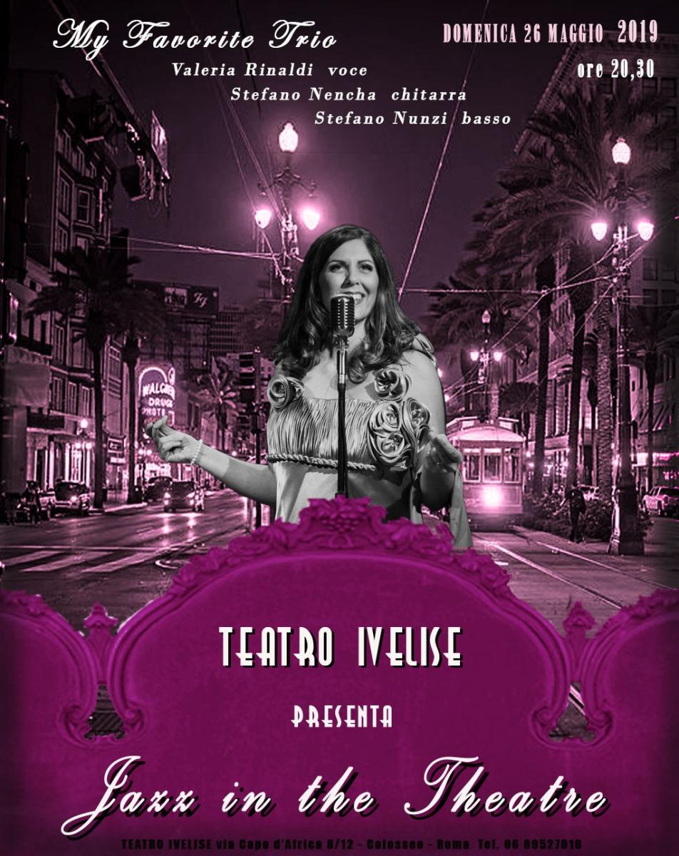 Teatro Ivelise | Ultimo appuntamento con JAZZ IN THE THEATRE il 26 maggio