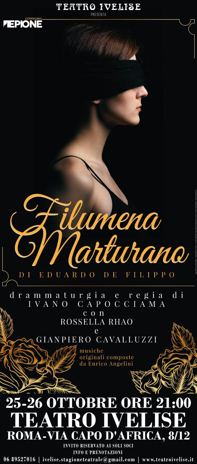 Teatro Ivelise | FILUMENA MARTURANO il 25 e 26ottobre