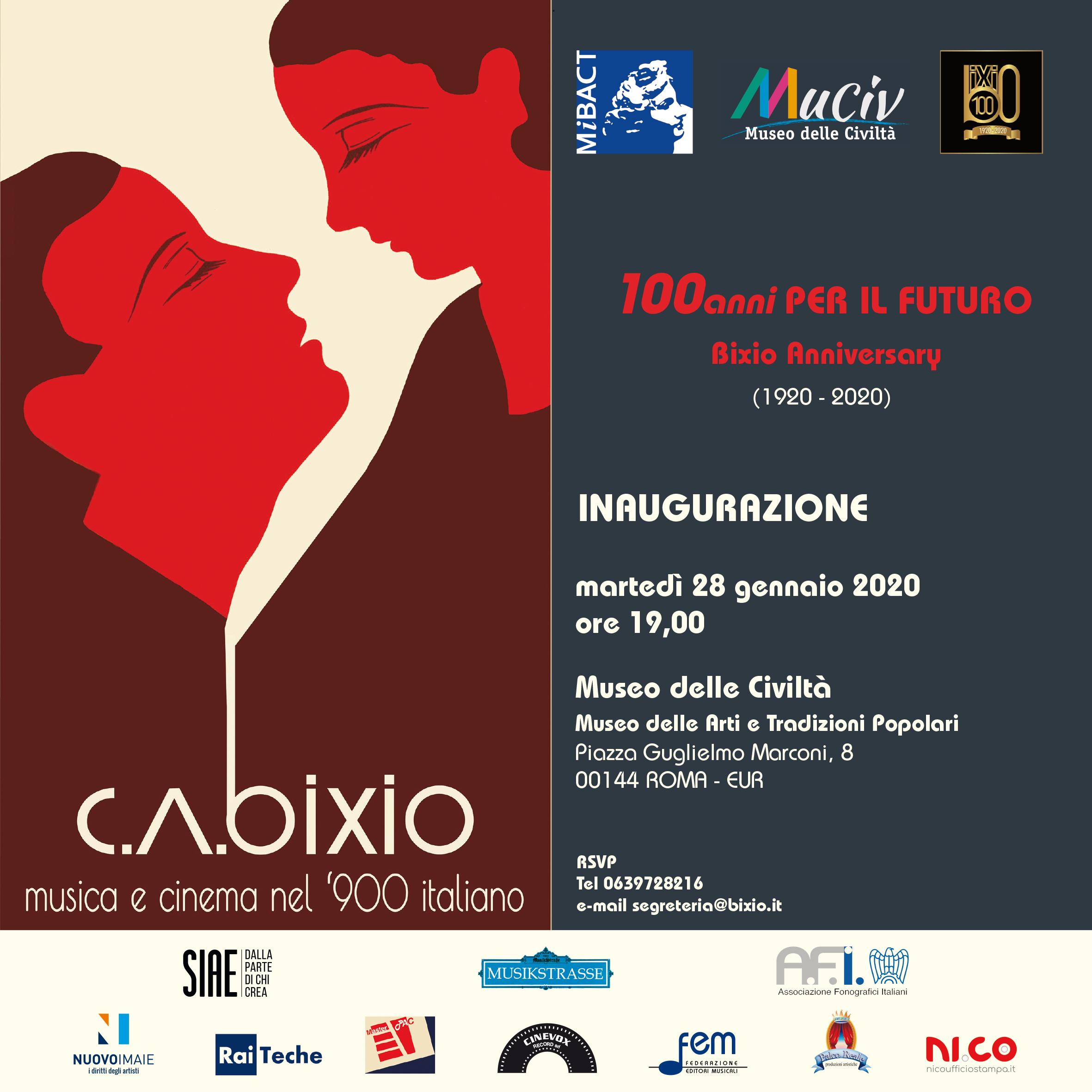 C.A. Bixio – Musica e Cinema nel '900 italiano, la mostra dal 29 gennaio